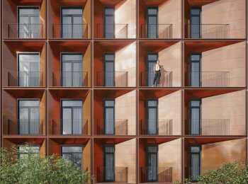 Оформление фасада комплекса